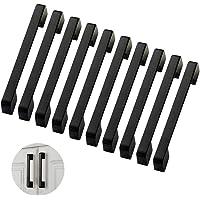 10 stuks meubelgrepen, kastgrepen, zwart, keukengrepen, 160 mm, deurgrepen, keukenset, deurkrukken, aluminium…