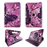 Android Tablet Cases for Barnes & Noble Nook HD 7'' 7inch Samsung Galaxy Tablet Case Tablet Cover 7 inch 360 Rotating Nook Google Android Tablet Case Tablet Covers Travel E-reader Multi Butterfly