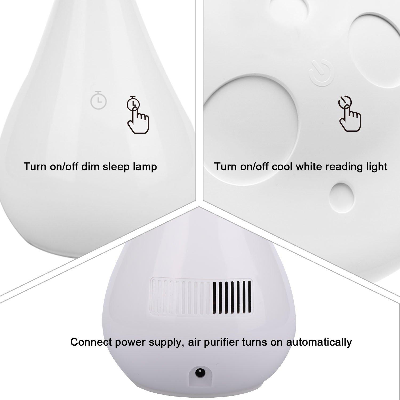 Lampe Ionique De D'air Sommeil Tactile Purificateur Chevet tshQdr