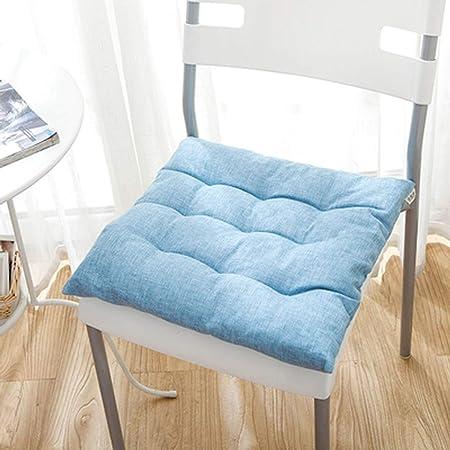 Q&F Nordic Cojines para sillas de Cocina Cuadrado Color sólido Cojines sillas Jardin Exterior Bistro casa jardín Patio Cocina Oficina-Cielo Azul 40x40cm(16x16inch): Amazon.es: Hogar
