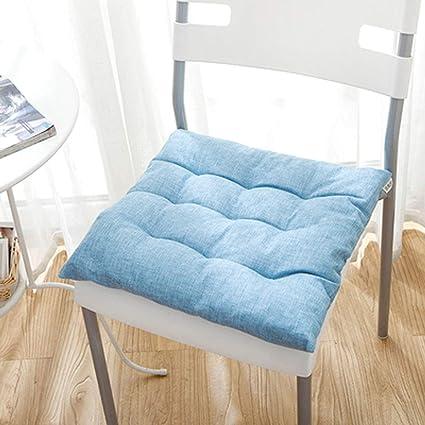 Q&F Nordic Cojines para sillas de Cocina Cuadrado Color sólido ...