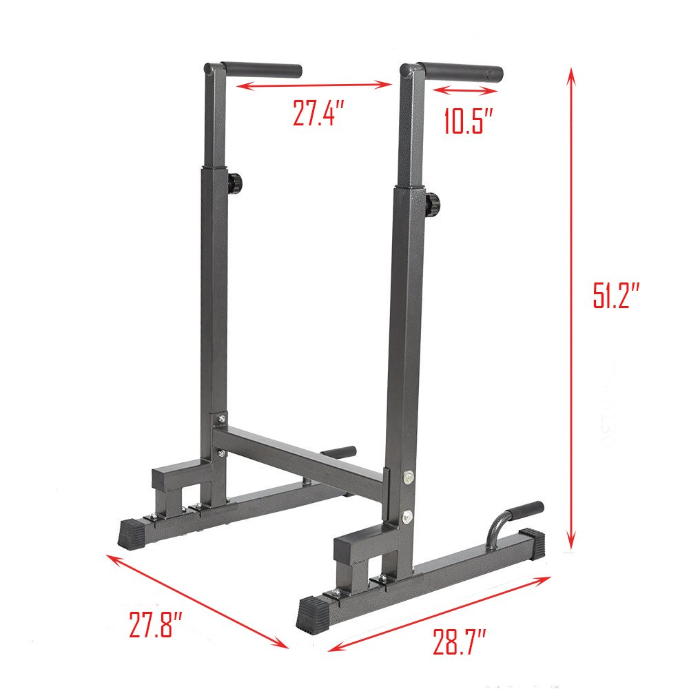 Livebest Heavy Duty Adjustable Power Tower Multi-Function Strength Training Dip Stand Workout Station Fitness Equipment for Home Gym by Livebest (Image #2)