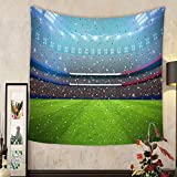 Lee S. Jones Custom tapestry soccer stadium in the night in france eurocup all graphics are made up d rendering
