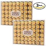 Ferrero Rocher Fine Hazelnut Chocolate, 96 Count ( 48 pieces per pack - Pack of 2)