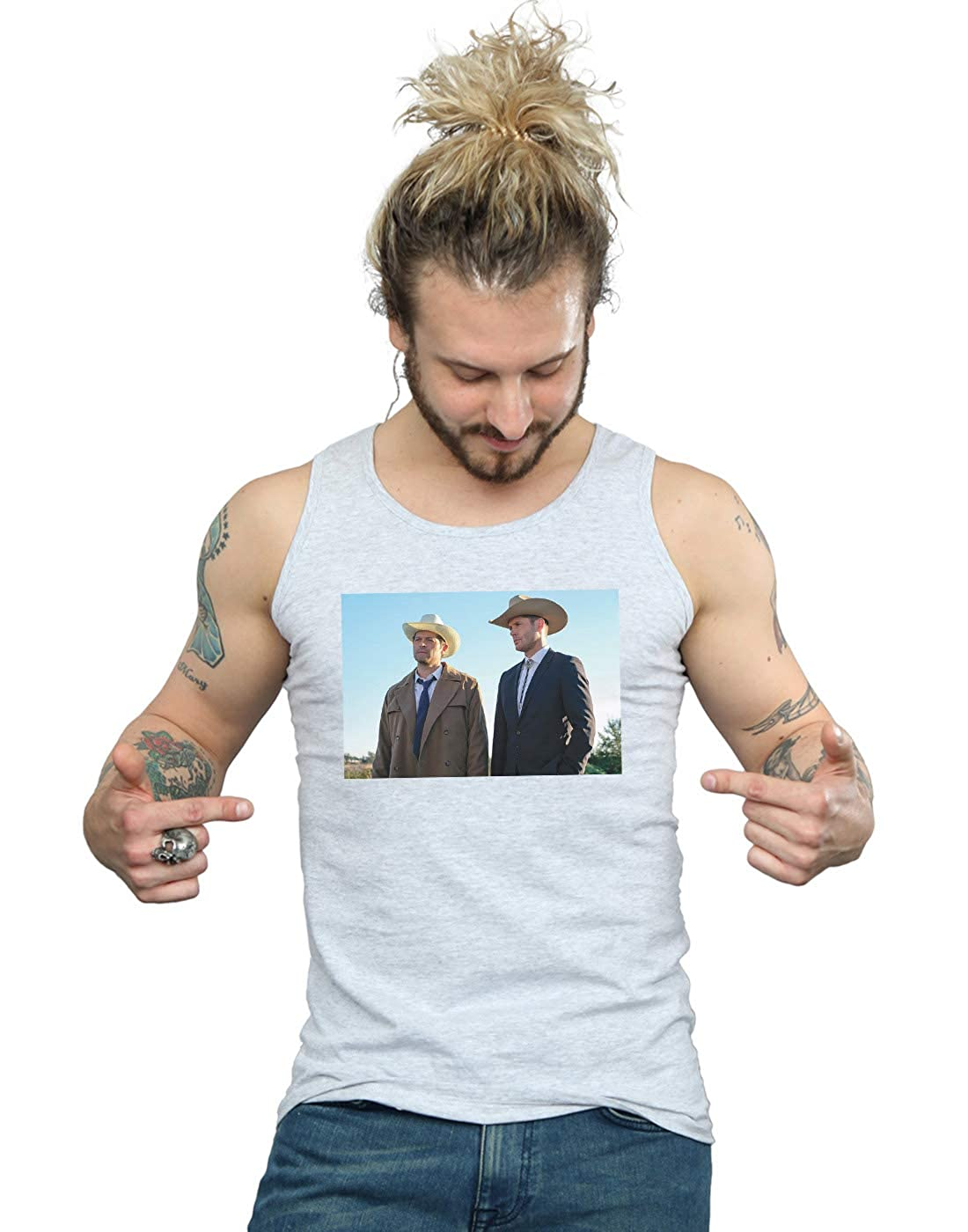 Supernatural Mens Stetson Boys Tank Top