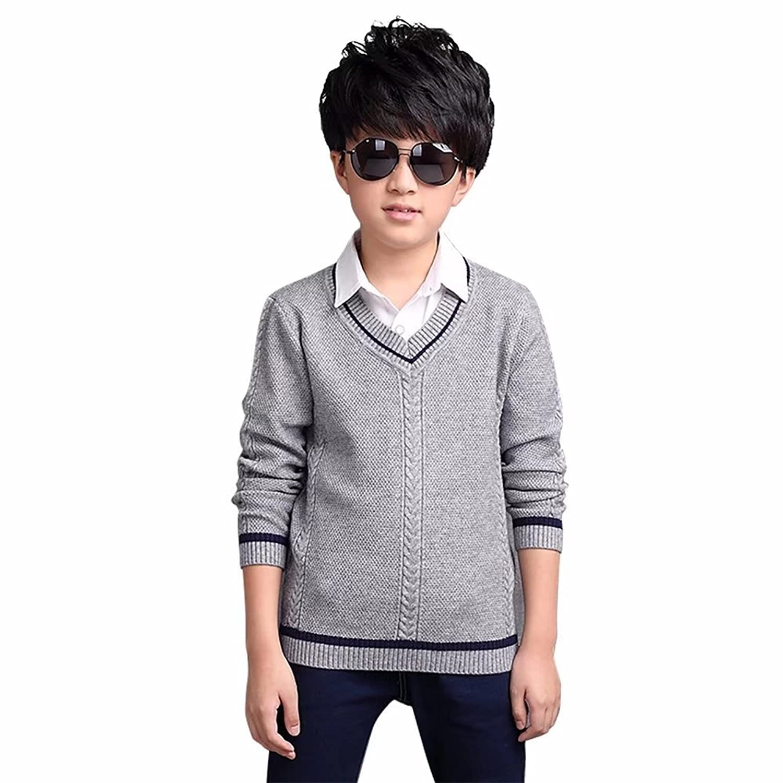 a707aa1b47ff1 AMIGOYO キッズ セーター 子供服 男の子 ボーイズ フォーマル ...