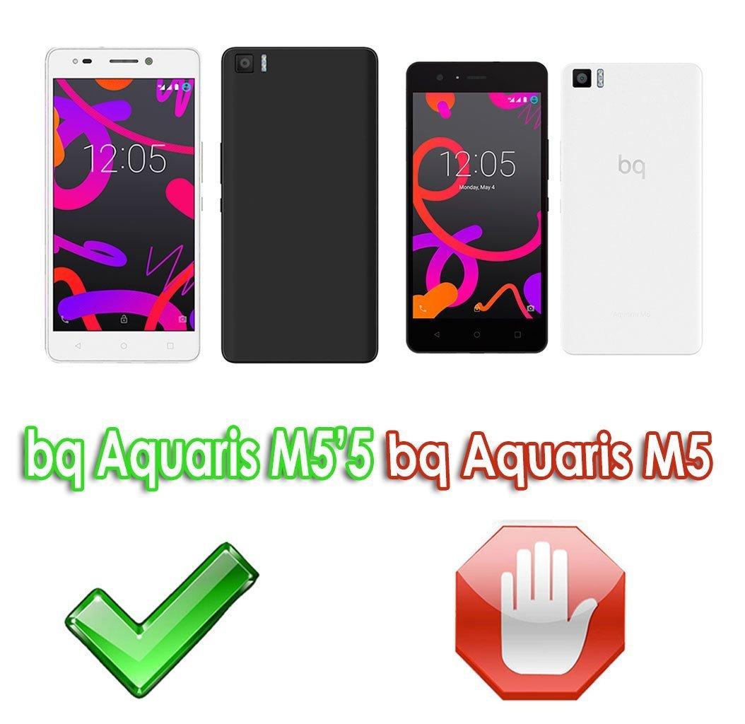 M55 Funda de Gel Silicona para BQ AQUARIS M55 color NEGRO M5,5 - Envio por mensajeria URGENTE