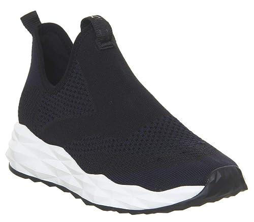 Ash Footwear Scarpe Shake Sneaker in Pelle Nero y Midnight