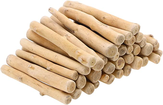Healifty 12cm Natural Driftwood Antiseptic Wood Rod Bar Wood Plant Decoration Ornament