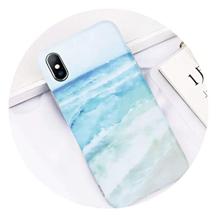 Amazon.com: Carcasa para iPhone 7 Plus, diseño de mármol con ...