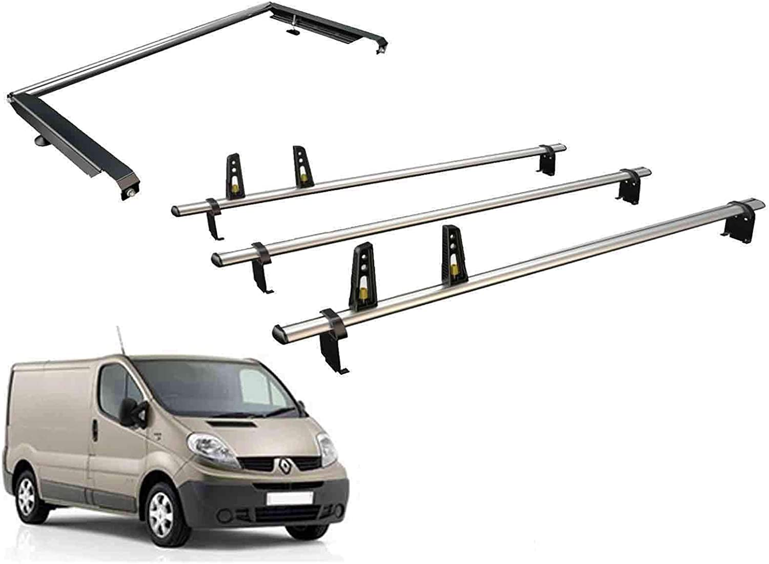 2016 on Van Guard ULTI Bar 3 Roof Bars and Rear Ladder Roller Kit for Peugeot Expert Compact