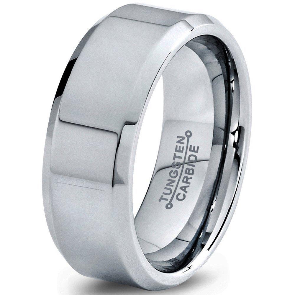Tungsten Wedding Ring Tungsten Ring Silver 6MM Wedding Band Men Tungsten Ring Women Tungsten Ring Custom Personalized Free Laser Engraving