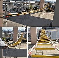 HXPP Escalera De Emergencia contra Incendios, Escalera De Evacuación Seguridad contra Incendios Emergencia Resistente A Las Llamas con Mosquetón Gancho For Niños Y Adultos: Amazon.es: Hogar