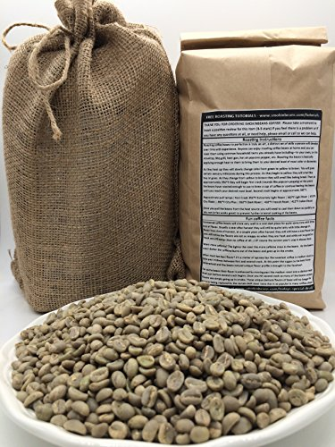 5 LBS - GUATEMALA IN A BURLAP BAG- Farm: Finca Nueva Granada, Bourbon, Strictly Hard Bean, 1800m,Dark Chocolate Cinnamon, Specialty-Grade Green Unroasted Whole Coffee Beans, for Home Coffee Roasters