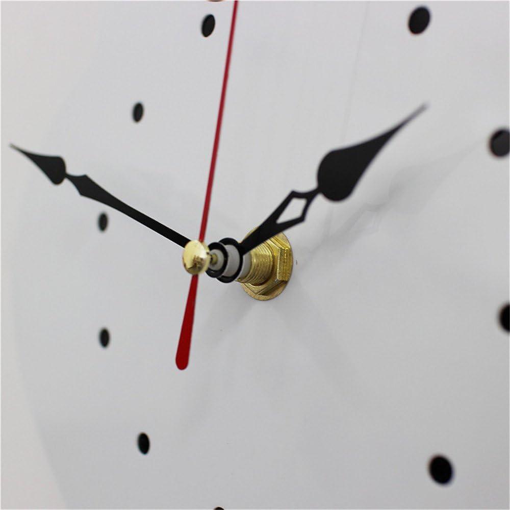 Blanc Artensky Horloge Murale Acrylique Moderne Mignon Horloge Chat Secouant Queue D/écoration Maison Mouvement Silence