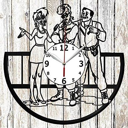 Ghostbusters Vinel Record Wall Clock Home Art Decor Original Gift Unique Design Handmade Vinyl Clock Black