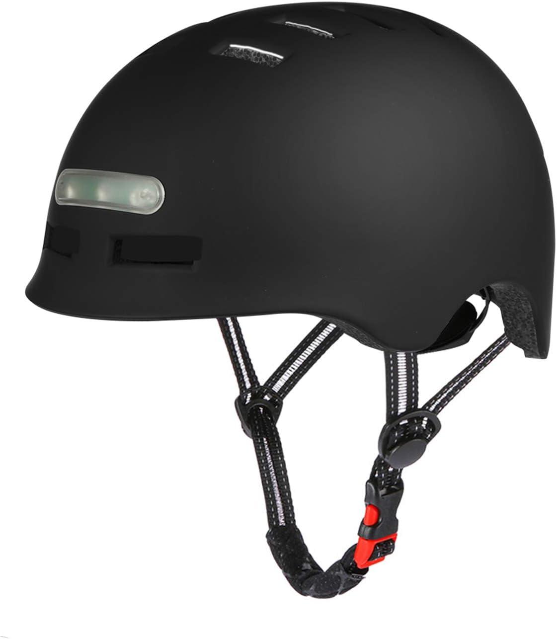 Casco da bici con faro a LED integrato e casco da ciclismo leggero fanale posteriore per uomini e donne adulti