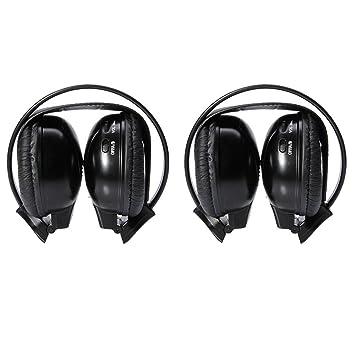 Barato un par de 2pcs mejor negro dos canal plegable inalámbrico por infrarrojos auriculares Headset auriculares