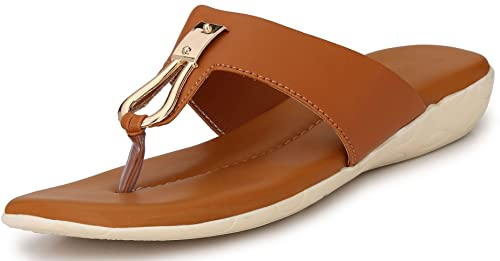 4e75169977a6a7 Walktoe Revoke from Women s Slipper Casual Fancy Party wear Brown Color  Size-7