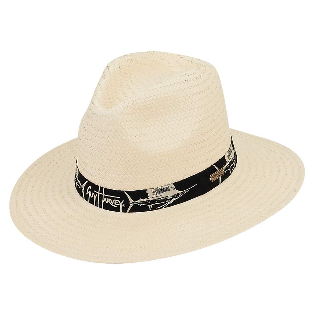 04ad01e0e7c28 Guy Harvey Mens Sun Hat Woven Ribbon Brim 3