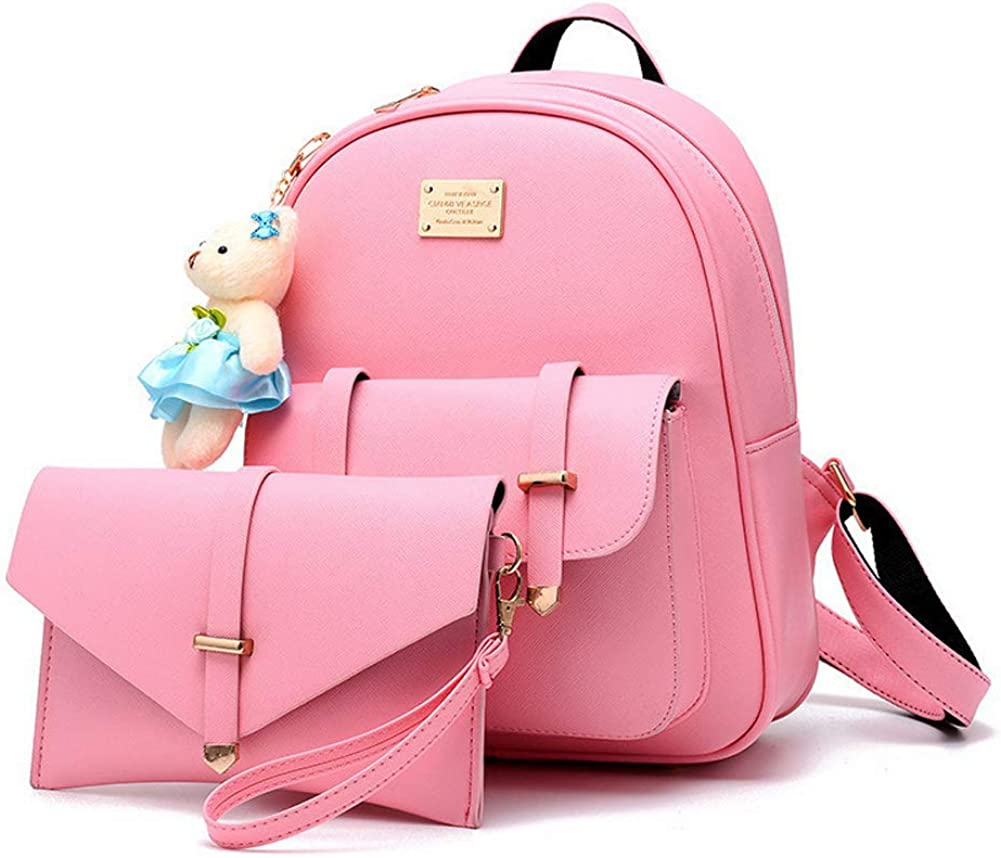 B07G9V4FM3 BAG WIZARD Cute Small Backpack Purse Set with Pouch Bag for Women and Teen Girls 61yIZEPLOWL