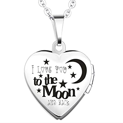 8f68bf485cbd Plata chapado en titanio collar con colgante camafeo de  quot I Love You To  The