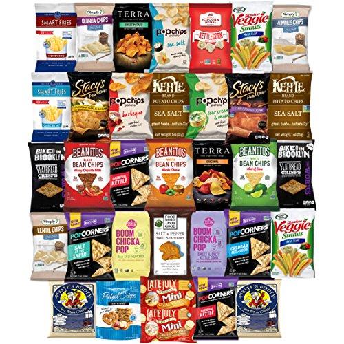 Ultimate Premium Healthy Chips & Snacks Care Package Variety Pack (35 Count) by Variety Fun by Custom Varietea