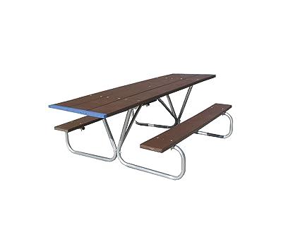Amazoncom Eagle One Foot Greenwood Picnic Table Metal Base - Metal base picnic table
