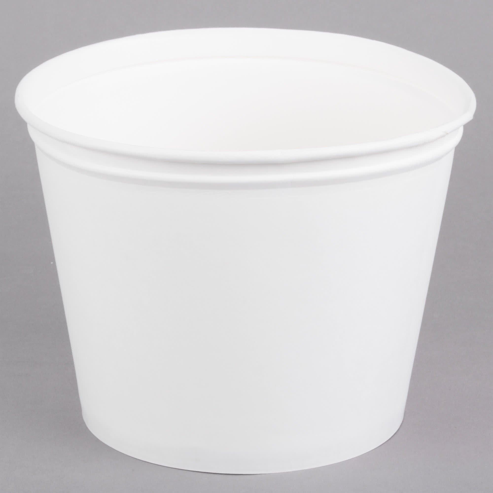 Dart Solo 5T1GR-02050 5 lb. White Paper Hot Food Bucket - 100/Case