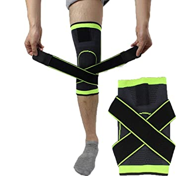 3d8a0a65ff Tape 1 Pcs 3D Pressurized Fitness Running Cycling Knee Support Braces  Elastic Nylon Sport Compression Pad