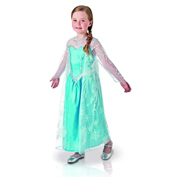 Generique - Disfraz Elsa Frozen Lujo en Caja Niña 7 a 8 Años (117 ...