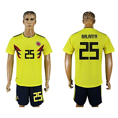 2018 World Cup Colombia National Team #25 Soccer Jersey