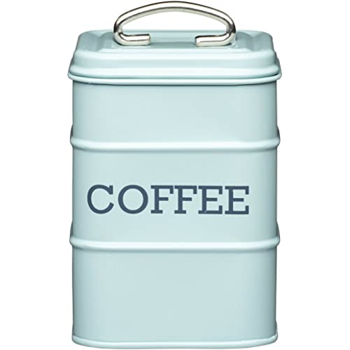 KitchenCraft-Living-Nostalgia-Duck-Egg-Blue-Coffee-Canister,-11-x-17-cm