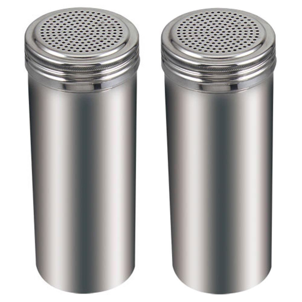 (Pack of 2) 22 Oz. Stainless Steel Dredge Salt / Sugar / Spice / Pepper Shaker Winco DRG-22H