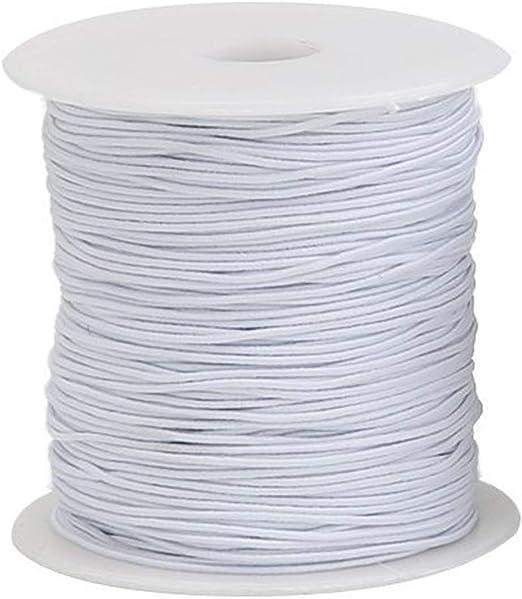 Trimming Shop Hilo de coser elástico Blanco de 1 mm de ancho para ...