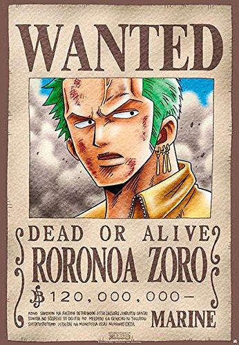 One Piece - Manga / Anime TV Show Poster / Print Wanted: Roronoa Zoro
