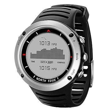 lennonsi Relojes Deportivos Inteligentes Reloj Digital para Hombres Correr natación Reloj Inteligente a Prueba de Agua Altímetro barómetro brújula ...