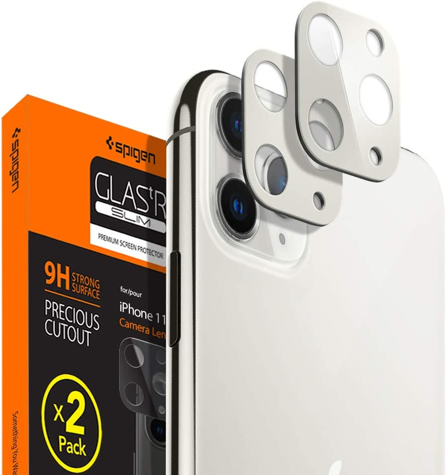 Protector de Lente iPhone 11 Pro/Pro Max Plateado (pack2)