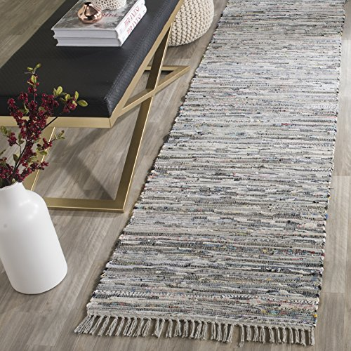 Safavieh Rag Rug Collection RAR121A Hand Woven Grey Cotton Area Rug (2'3