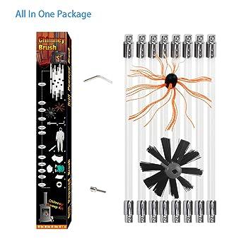 Flex Barra Kit deshollinador Escobón para tubo de barras limpiador estufas con 10 barras (por con tubo de 1 metro, diámetro 12 mm): Amazon.es: Bricolaje y ...