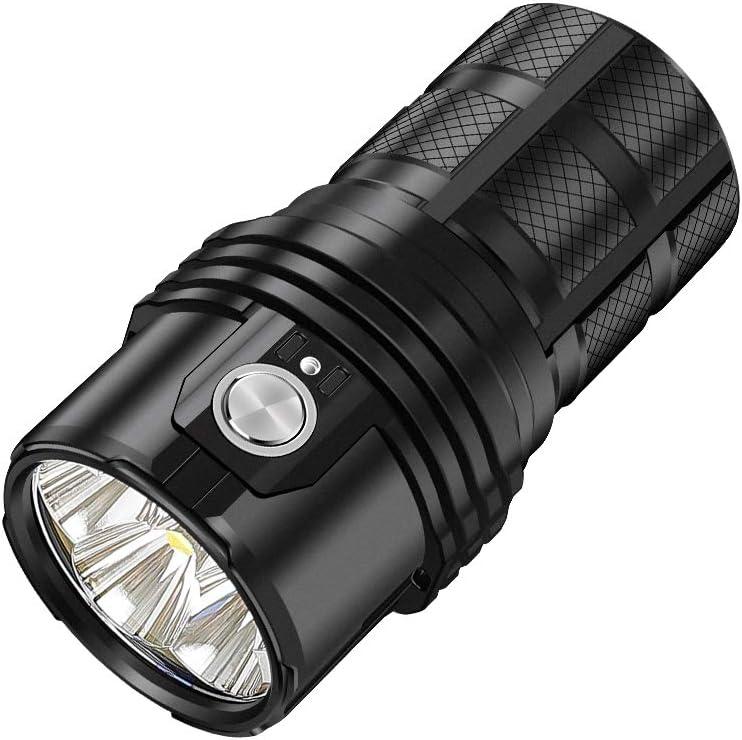 IMALENT MS06 LED Flashlight 25000 Lumens Rechargeable Torch CREE XHP70 2nd LEDs, High Lumen Tactical Flashlight Super Bright Handlight, Powered by 3 x 21700 4000mAh Li-ion Batteries (MS06) - -