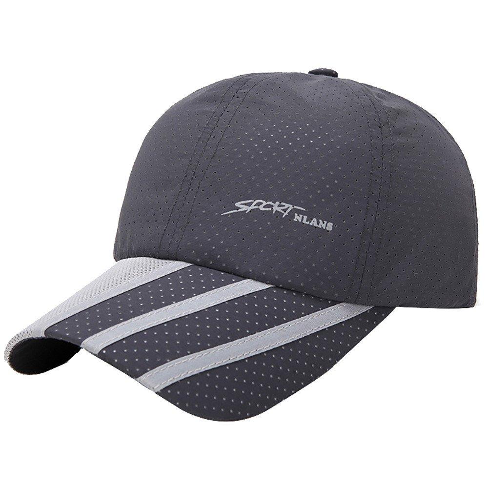 CSSD Fashion Baseball Caps for Men Outdoor Sport Golf Gentleman Style Sun Hats (Dark Gray)
