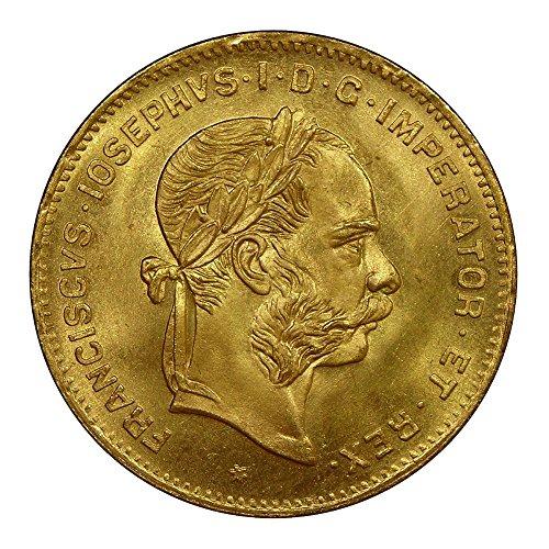 1892 Austria 4 Florin/10 Francs Gold Coin