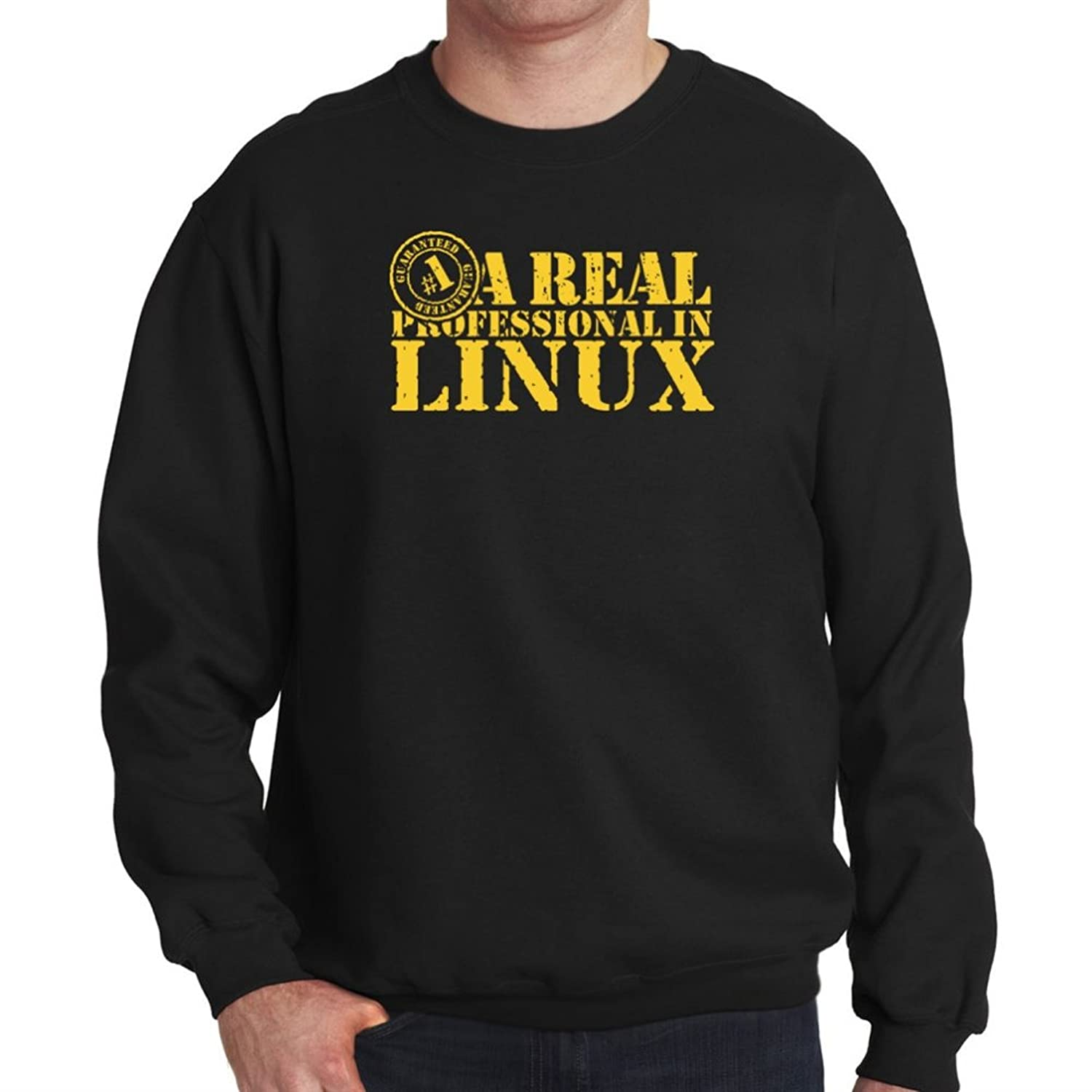 A REAL PROFESSIONAL in Linux Mens Sweatshirt