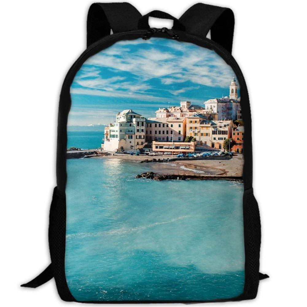 ZQBAAD Italy Mediterranean Luxury Print Men And Women's Travel Knapsack
