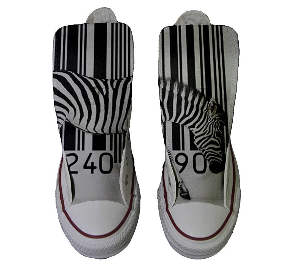 Converse All Star personalisierte Schuhe - schuhe Handmade schuhe - - Zebra Barcode 4fe435