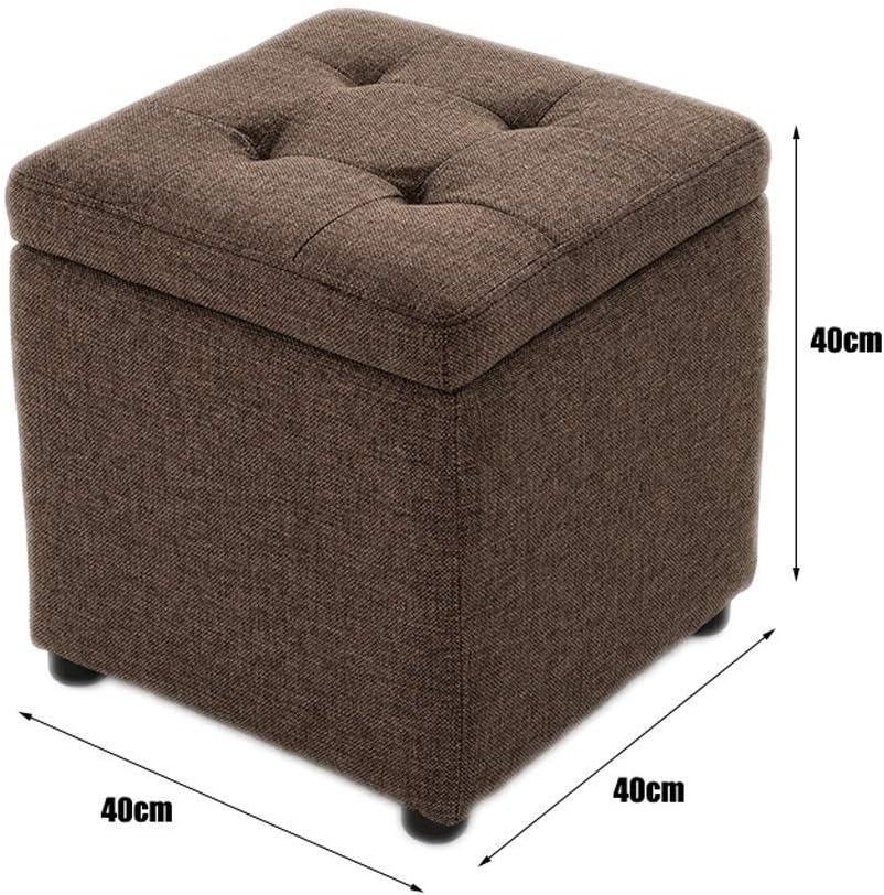 Saffron Round Footstool Ottoman Cover Pouf Floor Pouffee 20Wx16H Orange only cover by Saffron