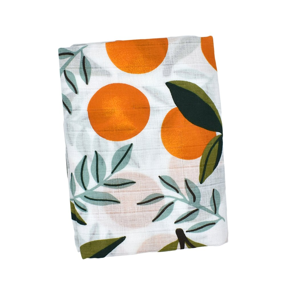 Orange 120x120cm Fenteer Newborn Baby Kid Soft Muslin Cotton Floral Swaddle Warm Shawl Receiving Blanket