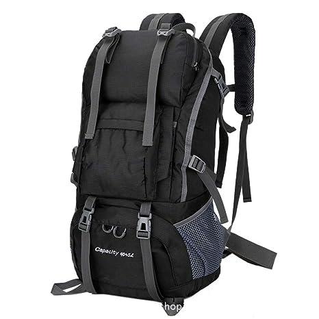 Outdoor Backpack Travel Large Capacity Multifunctional Waterproof Mountaineering Laptop Bag Black