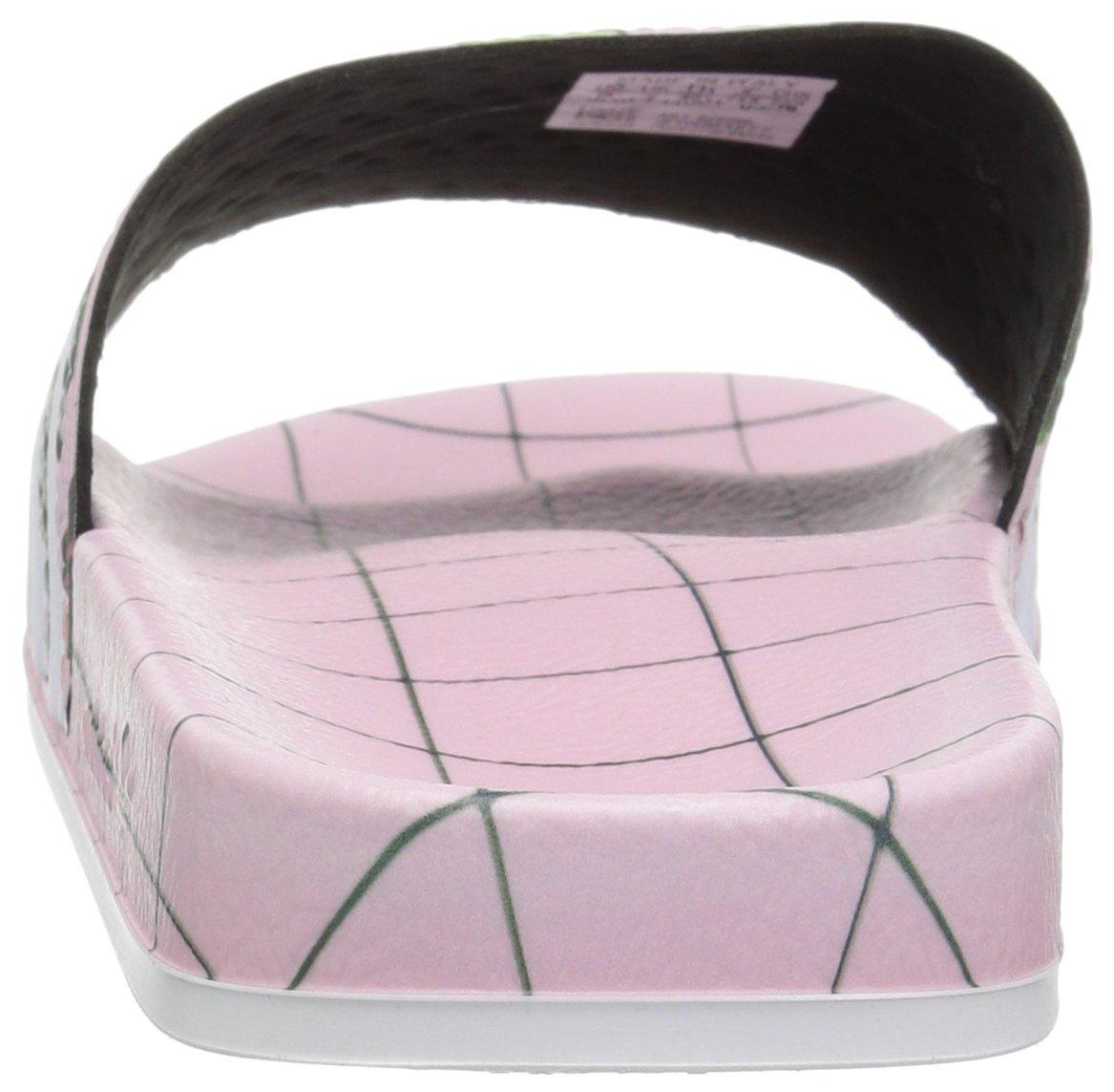 adidas Originals Women's Adilette Slide Sandals B077X9KBXF 9 B(M) US|White/Wonder Pink